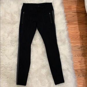 Athleta Fleece Lined Black Leggings, Size Small